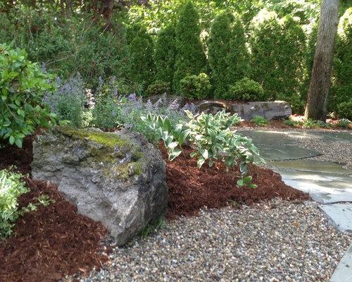 Fotos de jardines | Diseños de caminos de jardín rústicos en patio ...