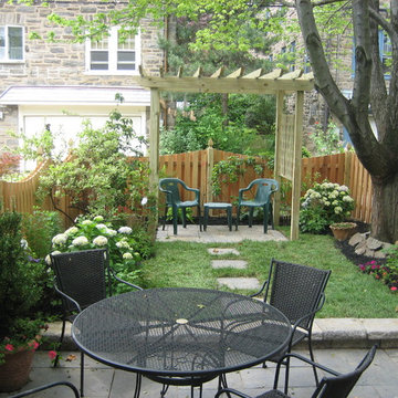 small space transform traditional style with pergola