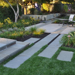 This is an example of an asian backyard stone landscaping in San Francisco.