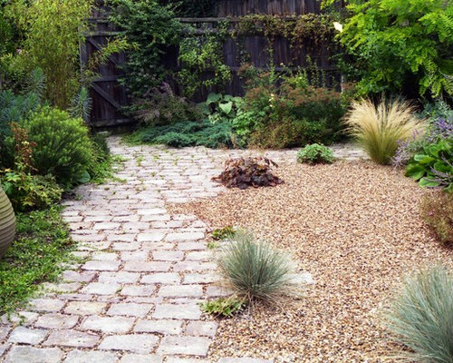 Houzz 50 best mediterranean garden pictures mediterranean small mediterranean back xeriscape full sun garden in london with natural stone paving workwithnaturefo