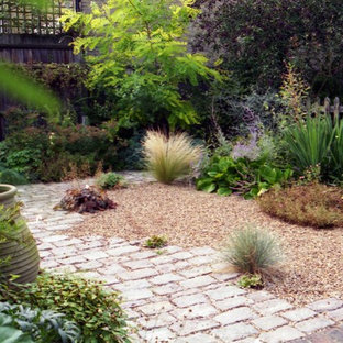 This Is An Example Of A Small Mediterranean Back Xeriscape Full Sun Garden  In London With