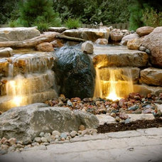 Contemporary Landscape by Scott Designs - hardscapes and water features
