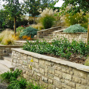 Design ideas for a craftsman drought-tolerant landscaping in San Diego.