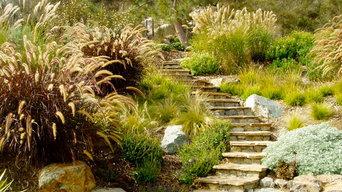 Solana xeriscape, cameron flagstone, drought tolerant, terrace retaining walls