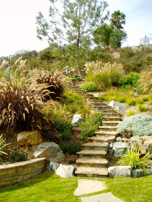 Terraced Retaining Walls | Houzz
