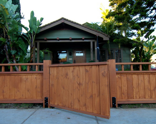 Craftsman Style Fence Home Design Ideas, Pictures, Remodel and Decor