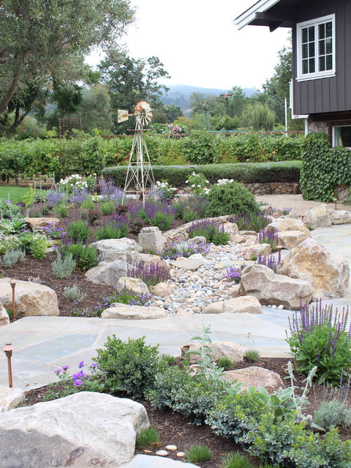Dry creek bed landscaping ideas pictures remodel and decor for Dry garden designs