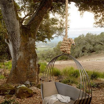 Design ideas for a mediterranean partial sun mulch landscaping in San Francisco.