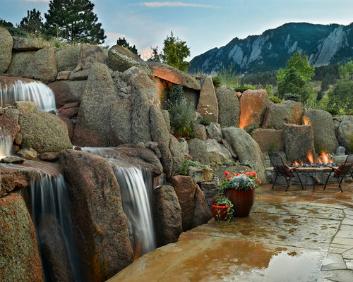 Pool Rock Waterfall With Faux Grotto