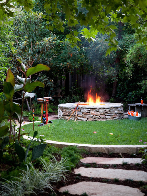 Lawn Design Ideas lawn garden design creative diy gardening idea 11 lawn design the lovely plants exterior interior Inspiration For A Traditional Landscape In Austin With A Fire Feature