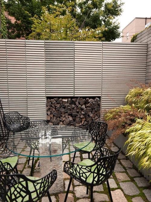 Boundary wall houzz for Compound garden designs