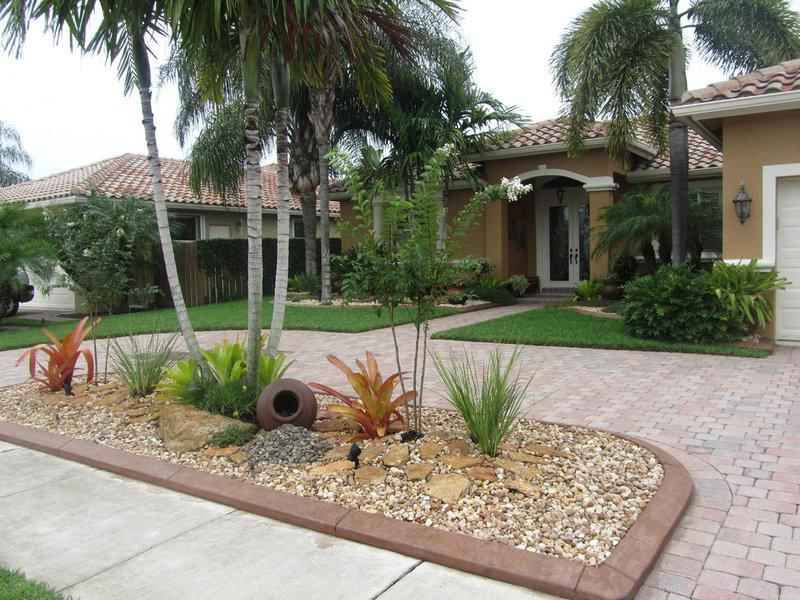 8 gainesville landscape design ideas for parking strips for Low maintenance tropical garden