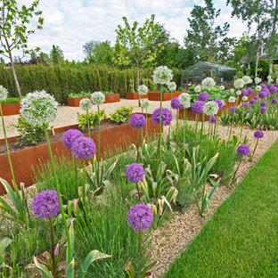 Cette image montre un jardin surélevé design.