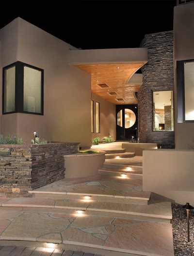 Southwestern Landscape by Soloway Designs Inc | Architecture + Interiors AIA