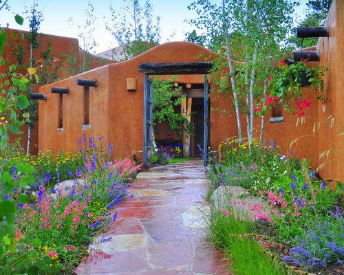 Southwestern Landscape Home Design Ideas Pictures Remodel And Decor