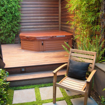 Spa deck and screen