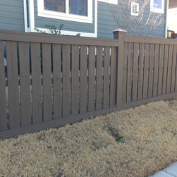 Space Picket/Semi Private - Harrison Fence Custom Dexter Wood Fence, Stained