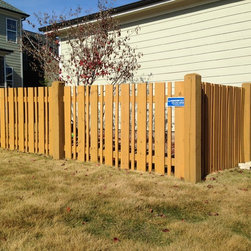 Space Picket/Semi Private - Harrison Fence Custom Wood Alternating Space Picket