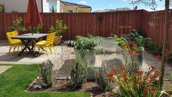 Spanish courtyard and kitchen garden