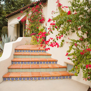 Inspiration for a mid-sized mediterranean backyard landscaping in Los Angeles.