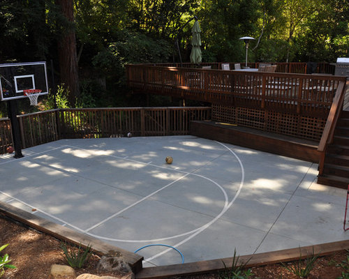 backyard basketball court design ideas remodel pictures