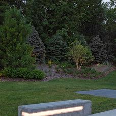 Contemporary Landscape by McKay Landscape Lighting