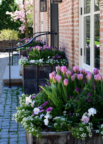 American Traditional Garden by Greenhaven Landscapes Inc