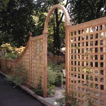 Square Lattice Fence & Arbor