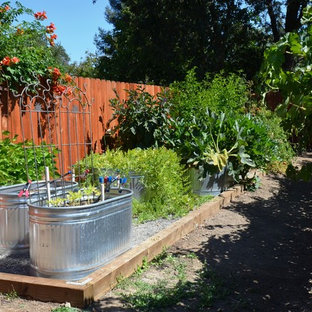 Photo of a traditional backyard vegetable garden landscape in Sacramento.