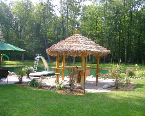 Thatched Roof Tiki Bar Home Design Ideas Pictures
