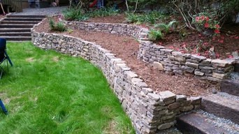 Stacked Stone Retaining Wall