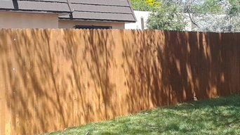 Stained fence After Pic