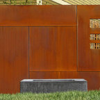 Corten Steel Waterfall Industrial Garden Burlington