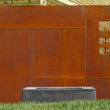 Steel wall and Fire Pit