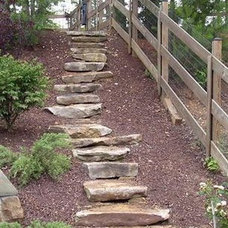 Traditional Landscape by Johnson's Landscaping Service