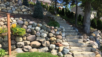 Steps & walls for steep slopes
