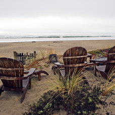 Beach Style Landscape by Kristi Will Home + Design