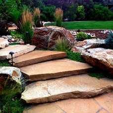 Rustic Landscape by Mile High Landscaping