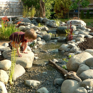 Photo of a traditional water fountain landscape in Vancouver.