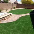 Outdoor Putting Green In Arizona Backyard Mesa Mckeeman