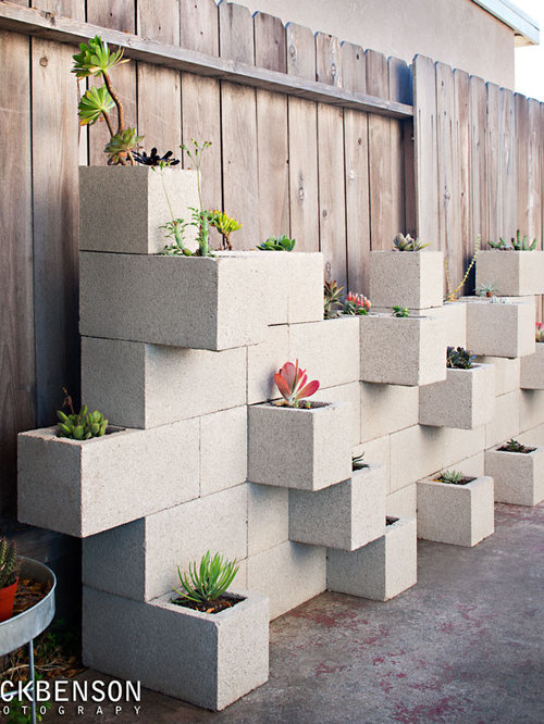 cinder block garden photos - Cinder Block Wall Design