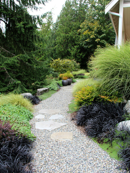 Mondo grass houzz for Landscaping rocks seattle
