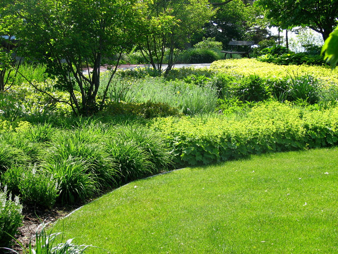 Traditional Landscape by Lakeside Landscape Corp