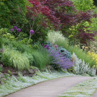 Sloped Front Yard | Houzz on Uphill Backyard Landscaping Ideas id=14073