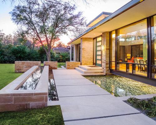inspiration pour un jardin la franaise arrire minimaliste de taille moyenne et lautomne