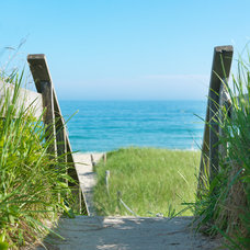 Beach Style Landscape by Donna Elle Seaside Living