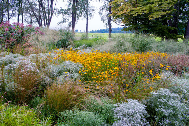 ideas for using ornamental grasses to enhance your fall garden rustic landscape by jonathan alderson landscape architects inc - Garden Design Using Grasses