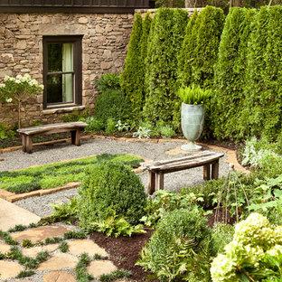 Geräumiger Klassischer Kiesgarten hinter dem Haus in Sonstige
