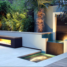 Contemporary Landscape by Synergy Custom Builders