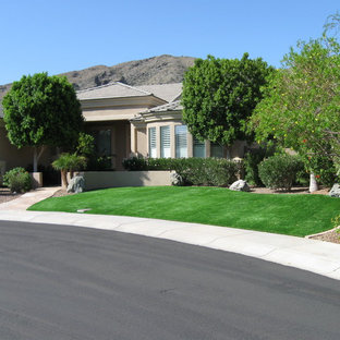 Inspiration for a traditional landscaping in Phoenix.